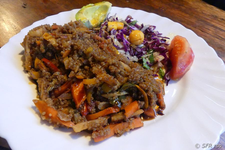 Vegetarisches Essen in Ecuador
