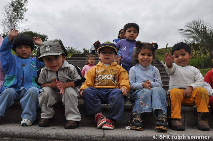 Kindergarten Ausflug in Quito, Ecuador