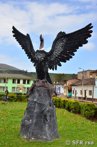 Kondor Monument in El Angel, Ecuador