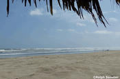 Strand in Canoa in Ecuador