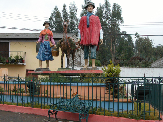 Monument in Pujili, Ecuador
