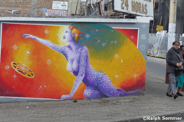 Graffiti Nudismo in Ecuador