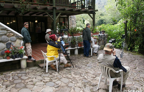 Bird Watchers in der Guango Lodge